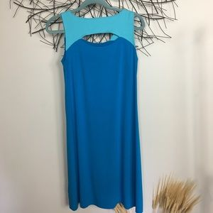 Sleeveless blue stretchy cotton EILEEN FISHER XS